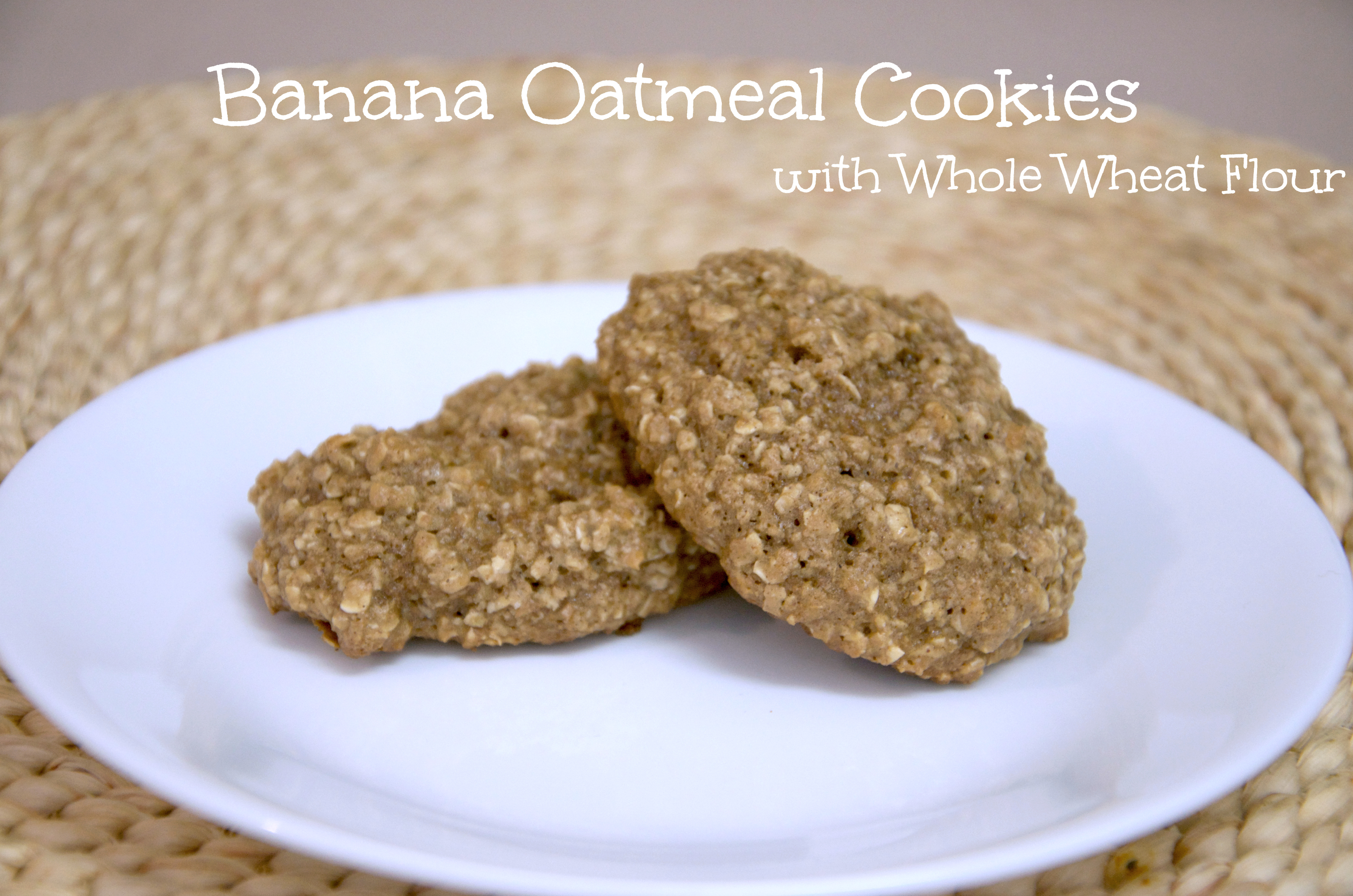 banana oatmeal cookies and so banana oatmeal cookies were born